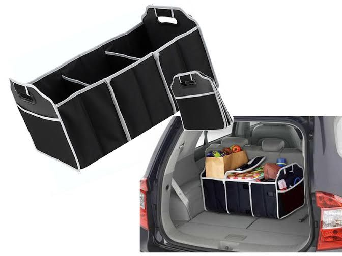 3 in 1 car boot organiser foldable shopping tidy cool. Black Bedroom Furniture Sets. Home Design Ideas