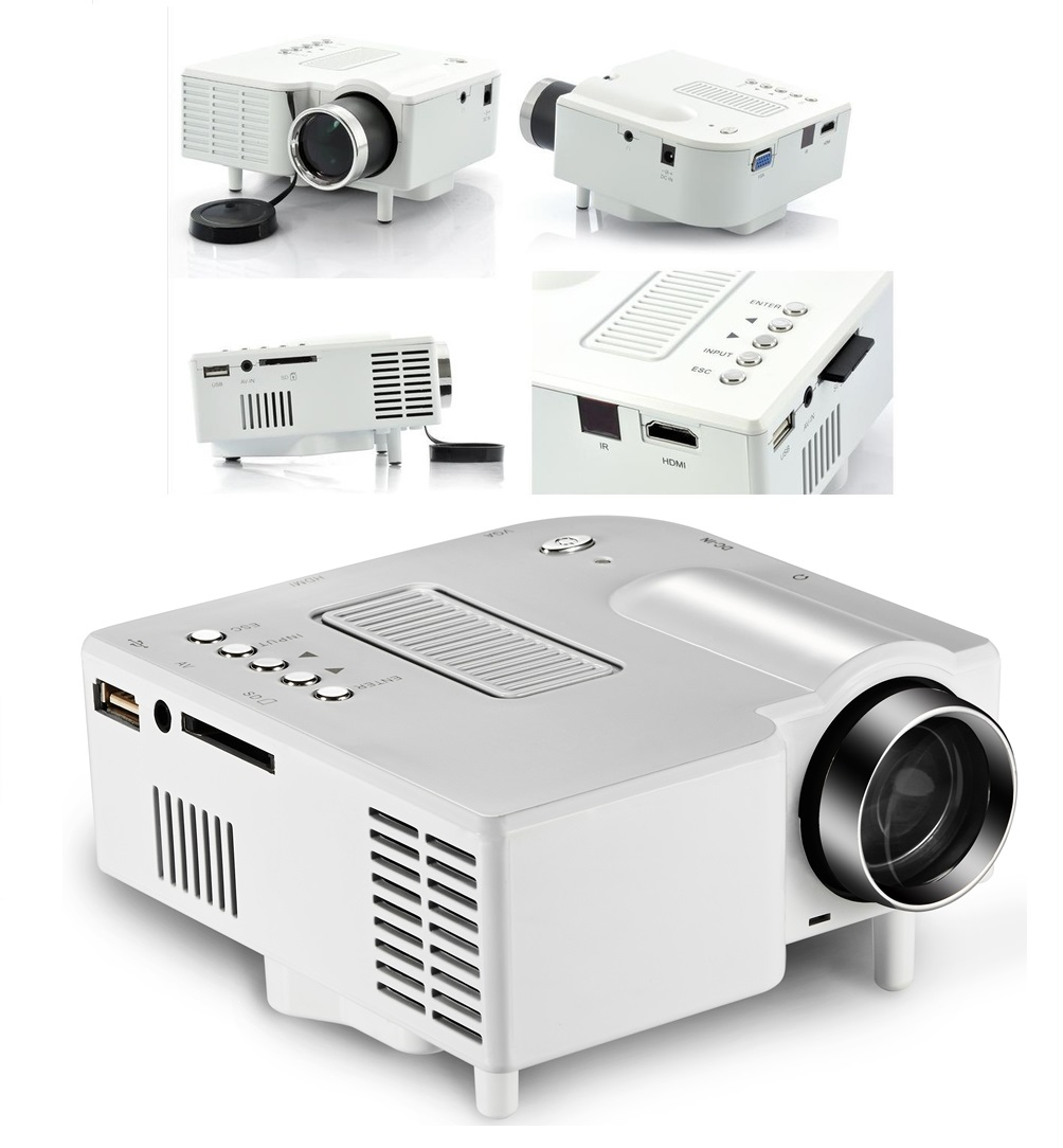 Mini hd 1080p led projector home cinema theater multimedia for Small pc projector