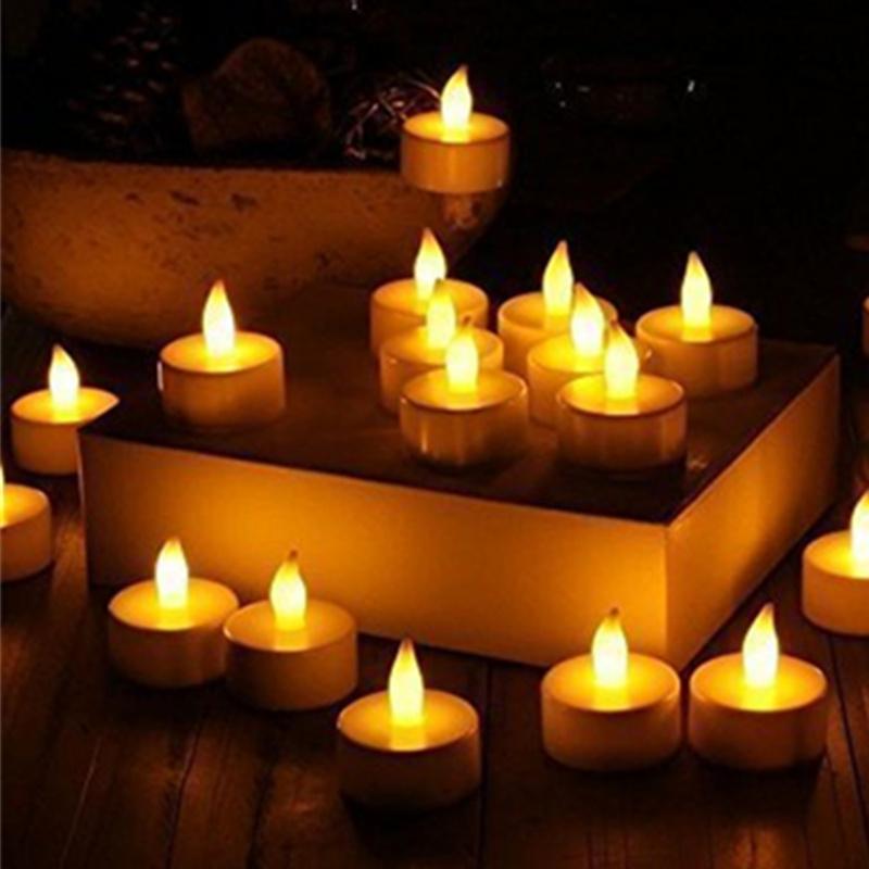 flameless led candle flickering tea lights battery. Black Bedroom Furniture Sets. Home Design Ideas